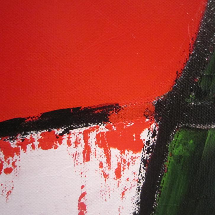 """Detailfoto van schilderij """"Te veel"""" door Veronique Jansseune"""