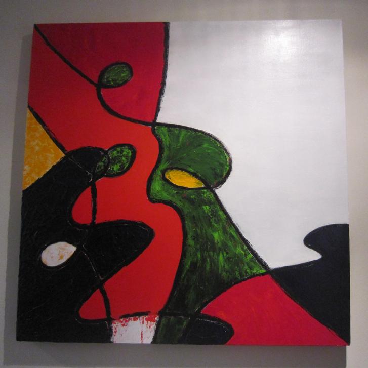 """Schilderij """"Te veel"""" door Veronique Jansseune"""