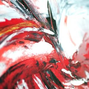 """Detailfoto van schilderij """"Big bang"""" door Veronique Jansseune"""
