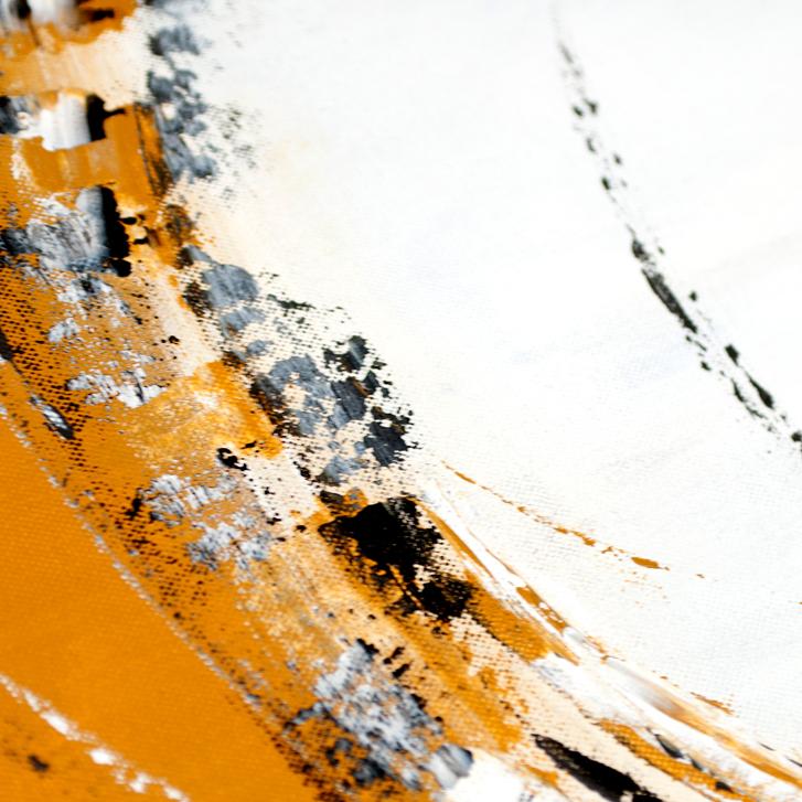 """Detailfoto van schilderij """"Emotie in oker"""" door Veronique Jansseune"""
