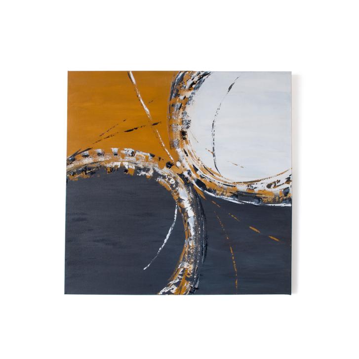"""Schilderij """"Emotie in oker"""" door Veronique Jansseune"""