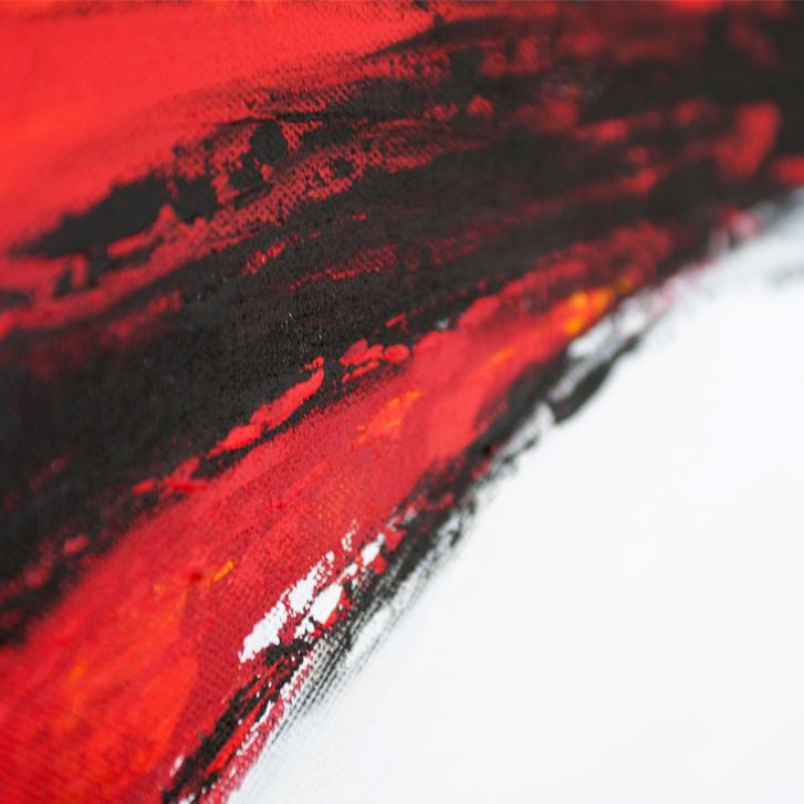 """Detailfoto van schilderij """"Furie"""" door Veronique Jansseune"""