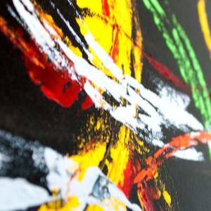 """Detailfoto van schilderij """"Lentekriebels"""" door Veronique Jansseune"""