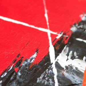 """Detailfoto van schilderij """"Mikado"""" door Veronique Jansseune"""