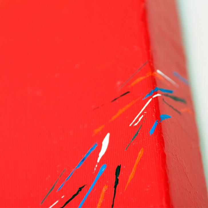 """Detailfoto van schilderij """"Pauwenstaart"""" door Veronique Jansseune"""