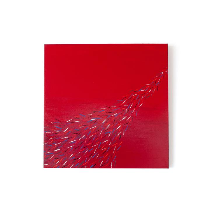 """Schilderij """"Pauwenstaart"""" door Veronique Jansseune"""