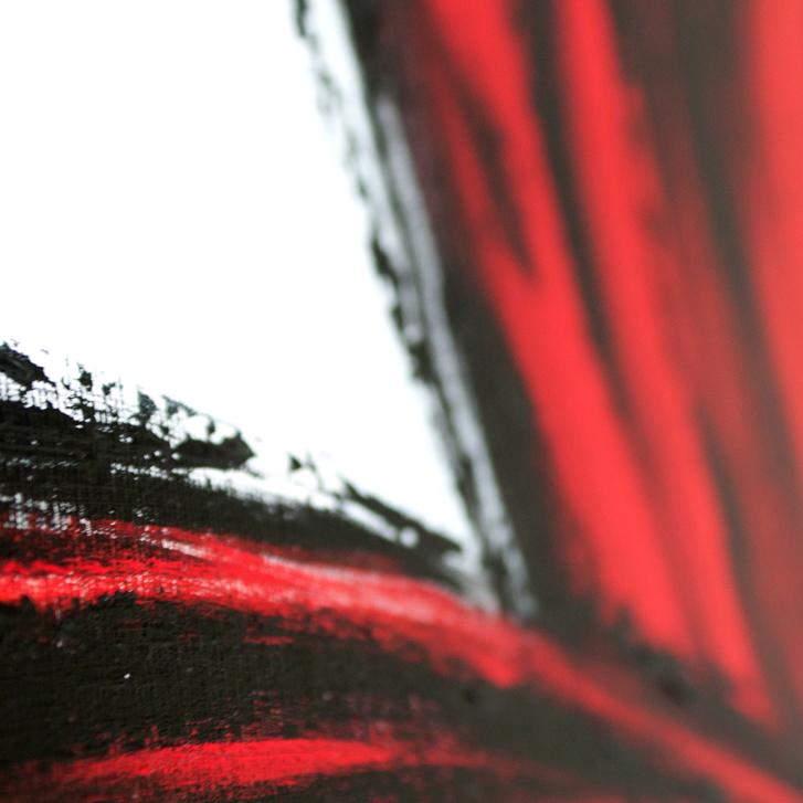 """Detailfoto van schilderij """"Pluimen"""" door Veronique Jansseune"""