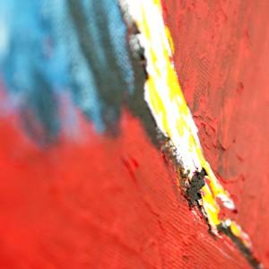 """Detailfoto van schilderij """"Schim"""" door Veronique Jansseune"""