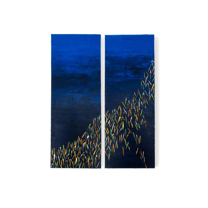 """Schilderij """"Vuurvliegen"""" door Veronique Jansseune"""