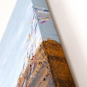 """Detailfoto van schilderij """"Zeevogels"""" door Veronique Jansseune"""